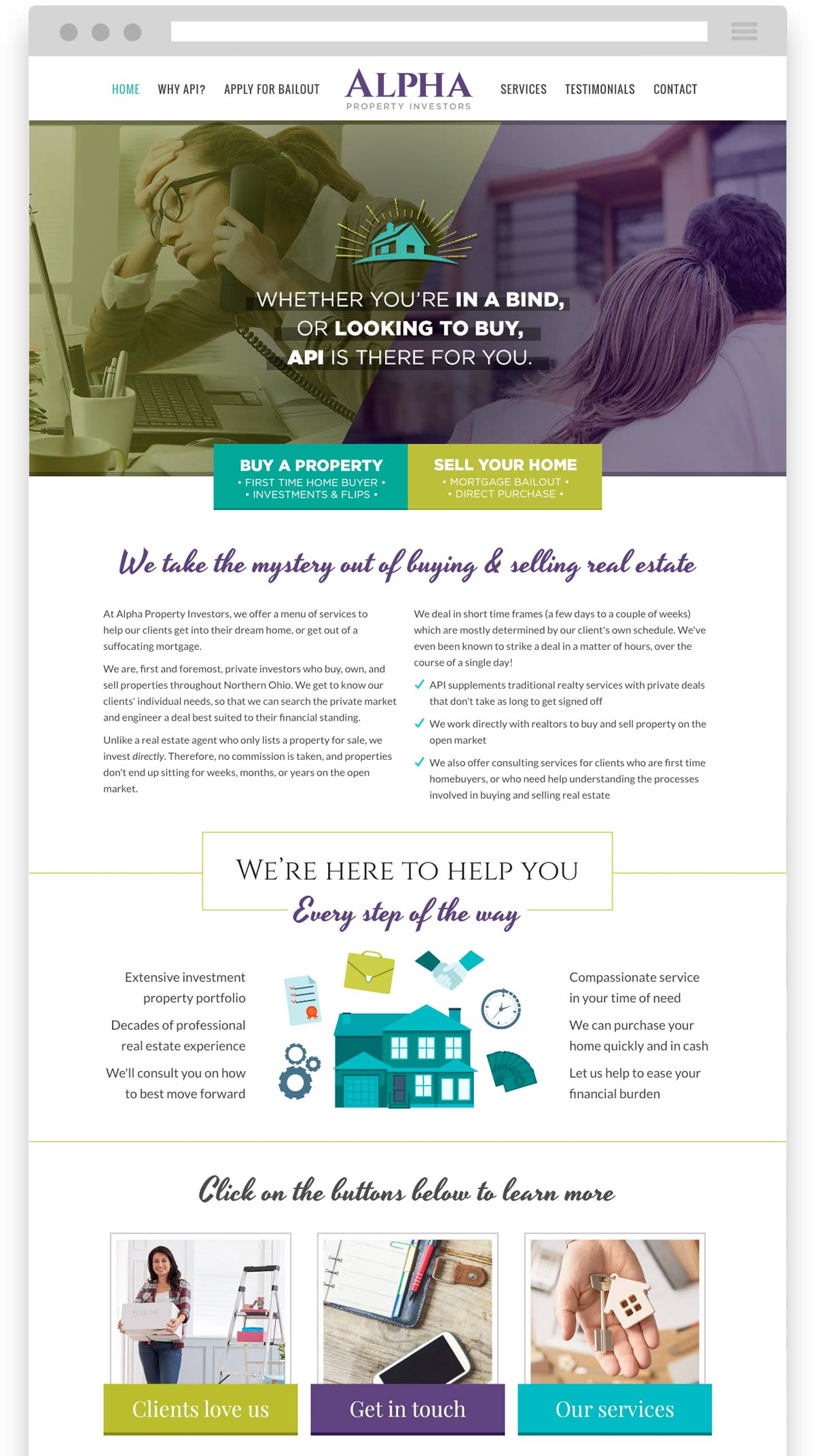 Alpha Property Investors website design