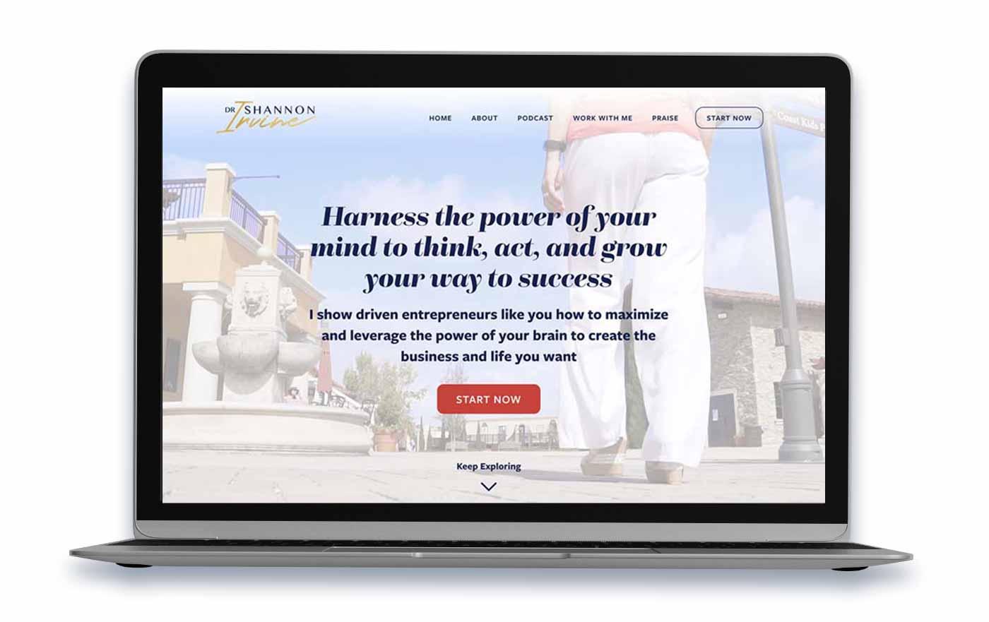 Dr. Shannon Irvine Website after