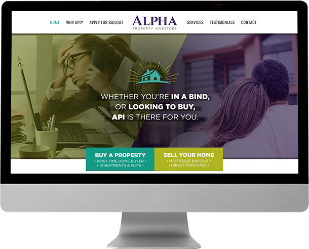 Alpha Property Investors web design by Laura Patricelli of Design Mastermind NYC